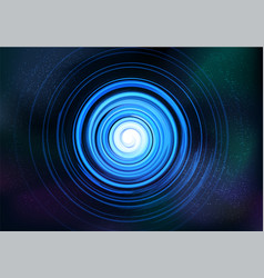 abstract symmetrical fractal tornado spiral vector image