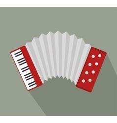 accordion music instrument design vector image