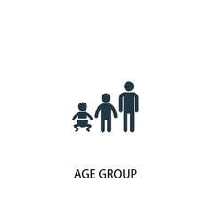 Age group icon simple element age vector