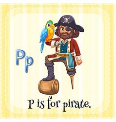 Alphabet P vector