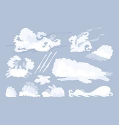 animal shaped cloud set vector image