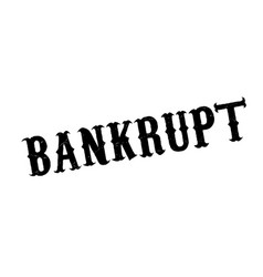 bankrupt rubber stamp vector image