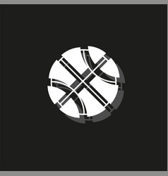 basket ball - basketball isolated sport symbol vector image