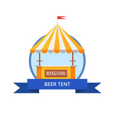 beer tent at october festival vector image