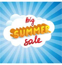 Big summer sale tag vector image
