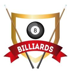 billiard tournament vector image