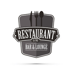black restaurant design vector image