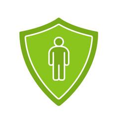 Bodyguard glyph color icon vector