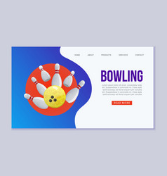 bowling web template ball vector image