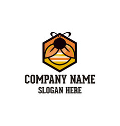 bug logo design vector image