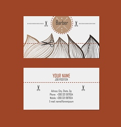 Business card hairdresser barber vector