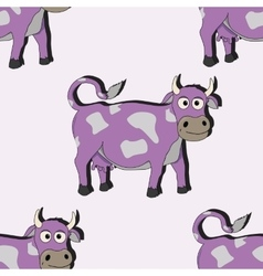 Cartoon cow seamless vector image