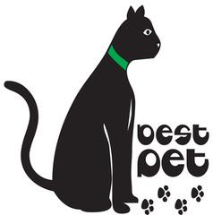 Cat Best Pet vector image