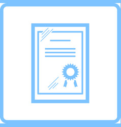 certificate under glass icon vector image