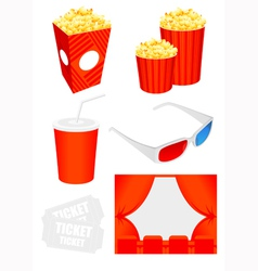 Cinema icon collection vector
