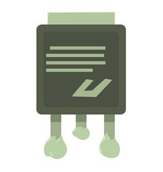 Circuit icon cartoon style vector