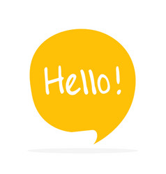 cute speech bubble icon with hello greeting vector image