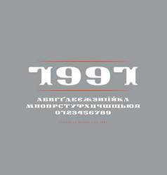 Decorative ukrainian extended serif font vector