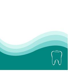 dental green background vector image