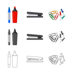 Design of office and supply symbol vector