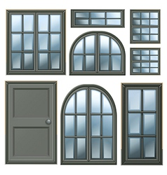 Different windows design vector