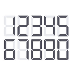 digital numbers set vector image