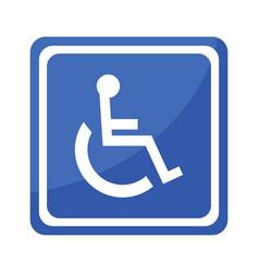 Disabled handicap icon invalid symbol vector