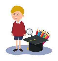 Elementary school cartoon vector