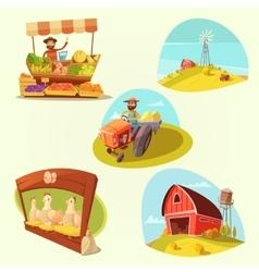 Farm Cartoon Set vector