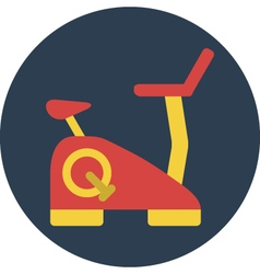 Fitness bicycle vector