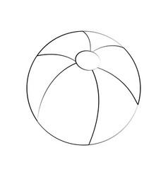 floating beach ball vector image