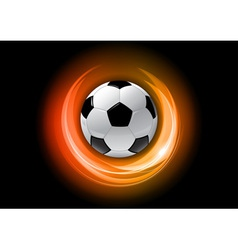 football neon light dark orange vector image