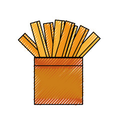 french fries fast fodd vector image