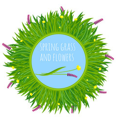 fresh green spring frame vector image