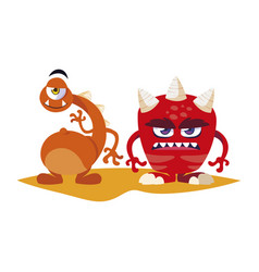 Funny monsters comic characters colorful vector