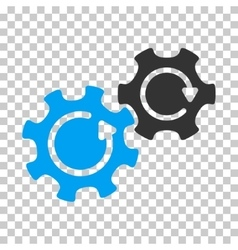 Gears Rotation Icon vector image