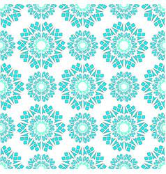 geometric pattern white green vector image