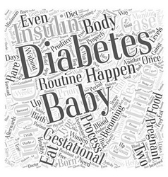 Gestational Diabetes What Happens after the Baby vector