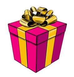 Gift box birthday holiday symbol christmas hand vector