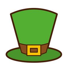 Green top hat accessory fashion irish vector