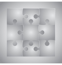 Grey Puzzles Piece JigSaw - 9 Pieces vector image