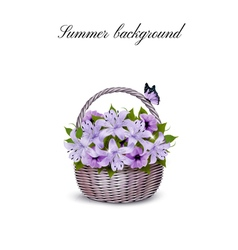 Holiday Background With Basket Full Of Beauty vector