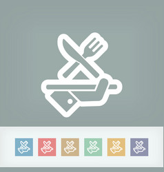Hotel icons food vector