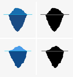 iceberg icons set vector image