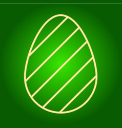 Icon easter egg with a pattern vector