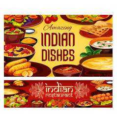 Indian food cuisine authentic food vector