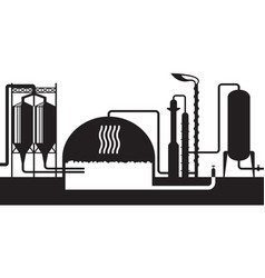 industrial biogas plant vector image