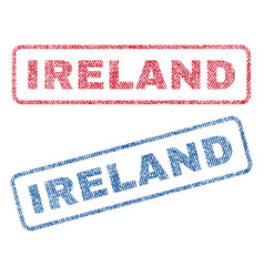 Ireland textile stamps vector