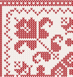 Knitted corner vector