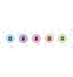 Laundromat icons vector